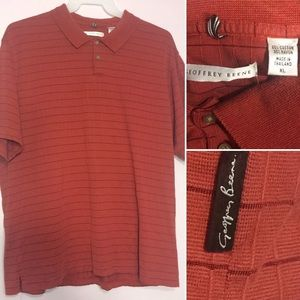 Geoffrey Beene Polo shirt Brick Red Textured